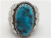 GENT'S FASHION TURQUOISE SILVER RING